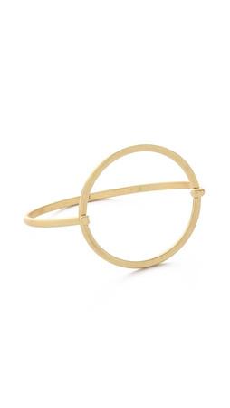 Madewell Oar Latch Cuff Bracelet - Vintage Gold
