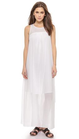 Madewell Shirred Maxi Dress - White