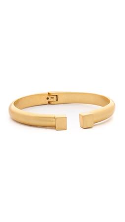 Madewell Square Hinge Cuff Bracelet - Vintage Gold