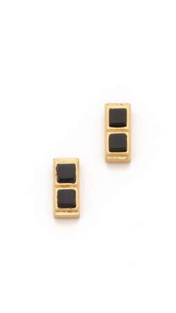 Madewell Stone Bar Studs - True Black