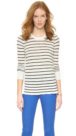 Madewell Sunview Stripe Sweater - Pure White