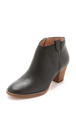 Madewell The Brook Side Tab Booties - True Black
