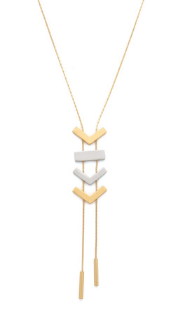 Madewell Triangle Lariat Necklace - Worn Gold
