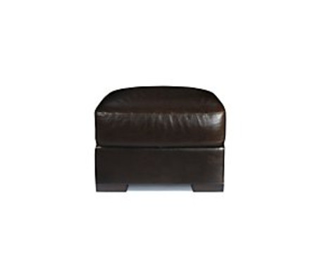 Madison leather footstool