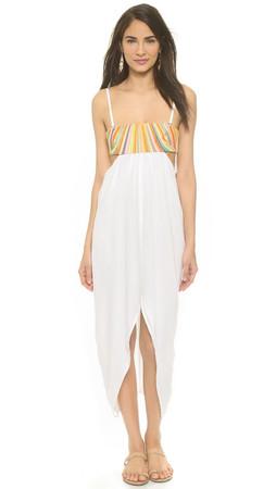 Mara Hoffman Beach Embroidered Maxi Dress - White
