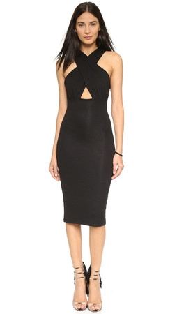 Mara Hoffman Crisscross Midi Dress - Black