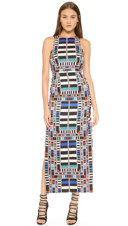 Mara Hoffman Cutout Column Dress - Riser Navy