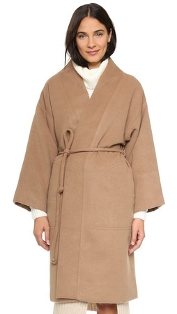 Mara Hoffman Wool Wrap Coat - Camel