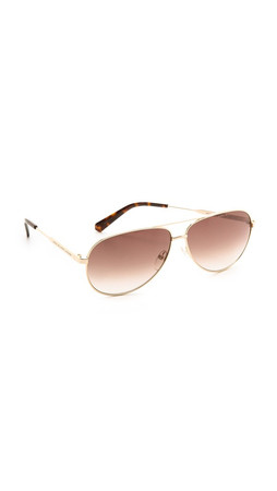 Marc By Marc Jacobs Aviator Gradient Sunglasses - Gold/Brown Gradient