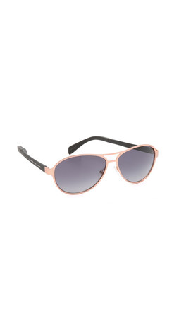 Marc By Marc Jacobs Aviator Sunglasses - Gold Havana/Brown Gradient