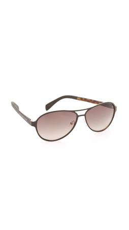 Marc By Marc Jacobs Aviator Sunglasses - Matte Brown/Brown Gradient