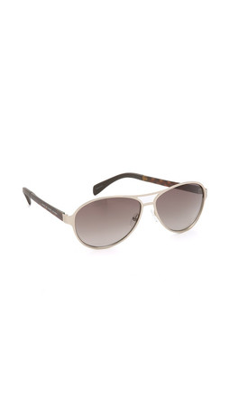 Marc By Marc Jacobs Aviator Sunglasses - Matte Silver/Grey Gradient