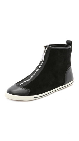 Marc By Marc Jacobs Bedford Zip High Top Sneakers - Black