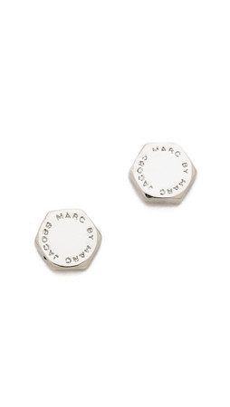 Marc By Marc Jacobs Bolt Stud Earrings - Argento