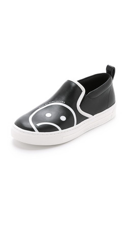 Marc By Marc Jacobs Broome Unsmiley Slip On Sneakers - Black