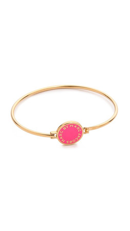 Marc By Marc Jacobs Classic Marc Skinny Bracelet - Fluoro Pink