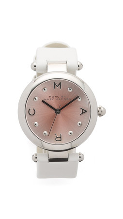 Marc By Marc Jacobs Dotty Watch - Silver/White/Blush