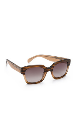 Marc By Marc Jacobs Gradient Sunglasses - Havana Beige/Dark Blue
