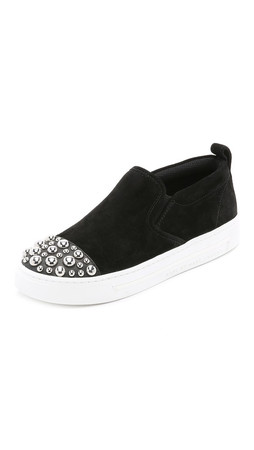 Marc By Marc Jacobs Grand Studded Slip On Sneakers - Black