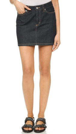 Marc By Marc Jacobs Icon Mini Skirt - Rinse