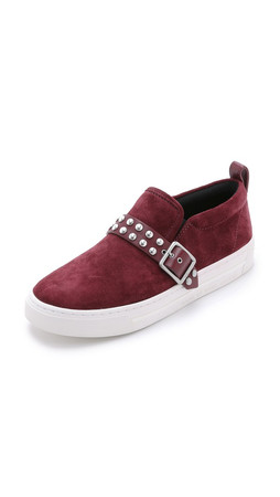 Marc By Marc Jacobs Kenmare Studded Low Slip On Sneakers - Merlot