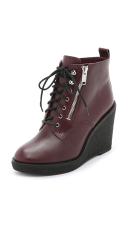 Marc By Marc Jacobs Kit Wedge Booties - Musk Brown