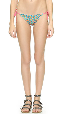 Marc By Marc Jacobs Mini Jerrie Rose String Bikini Bottoms - Pale Jade Multi