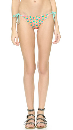 Marc By Marc Jacobs Mini Jerrie Rose String Bikini Bottoms - Pretty Bright Pink Multi