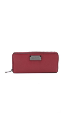 Marc By Marc Jacobs New Q Slim Zip Around Wallet - Red Canyon