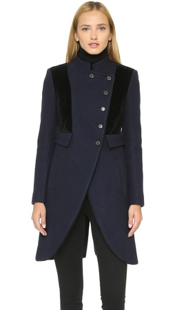 Marc By Marc Jacobs Norman Bonded Wool Coat - General Navy