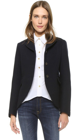 Marc By Marc Jacobs Norman Bonded Wool Jacket - General Navy