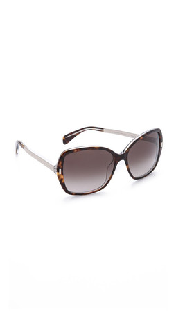 Marc By Marc Jacobs Oversized Sunglasses - Havana Crystal Gold/Brown