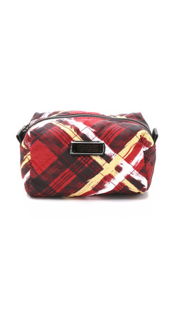 Marc By Marc Jacobs Printed Crosby Quilt Cosmetic Case - Ruby Red Multi