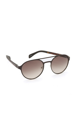 Marc By Marc Jacobs Round Aviator Sunglasses - Brown/Brown Gradient