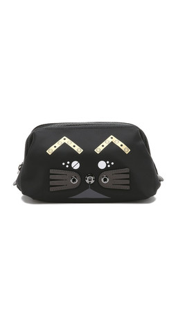 Marc By Marc Jacobs Screw'D Up Faces Gato Framed Pouch - Black