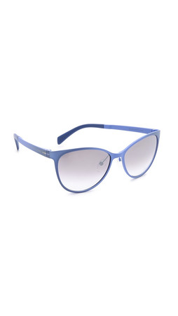 Marc By Marc Jacobs Sleek Sunglasses - Crystal Blue/Grey Silver