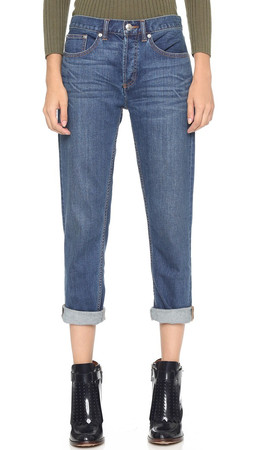 Marc By Marc Jacobs Slim Boyfriend Cropped Jeans - Vintage Blue