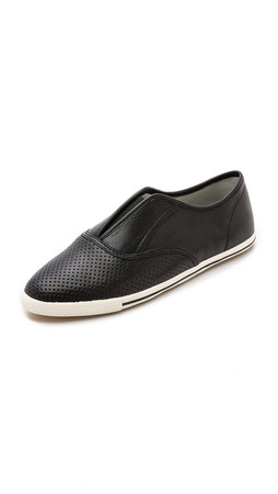 Marc By Marc Jacobs Slim Kicks Slip On Sneakers - Black