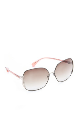 Marc By Marc Jacobs Slim Line Sunglasses - Brown/Peach
