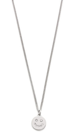 Marc By Marc Jacobs Smiley Logo Pendant Necklace - Argento