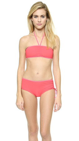 Marc By Marc Jacobs Solid Marc Bandeau Halter Top - Geranium Multi