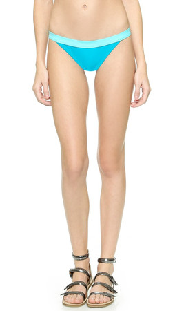 Marc By Marc Jacobs Solid Marc Color Block Bikini Bottoms - Painted Teal Multi
