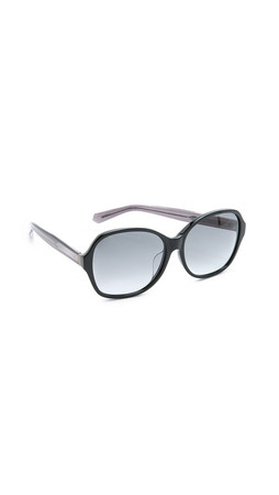 Marc By Marc Jacobs Special Fit Transparent Temple Sunglasses - Black/Crystal