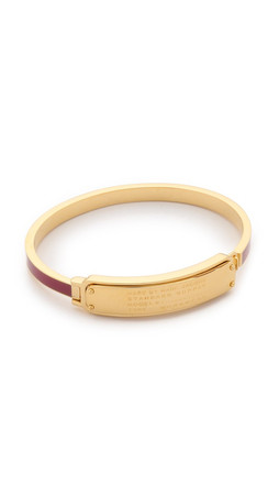 Marc By Marc Jacobs Standard Supply Hinge Cuff Bracelet - Garnet