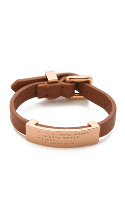 Marc By Marc Jacobs Standard Supply Leather Id Bracelet - Cinnamon Stick