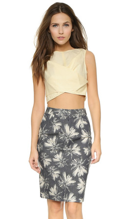 Marc By Marc Jacobs Summer Cotton Crop Top - Whey