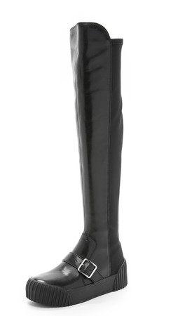 Marc By Marc Jacobs Thompson Over The Knee Sneaker Boots - Black