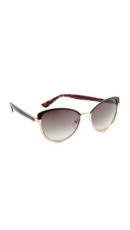 Marc By Marc Jacobs Two Tone Cat Eye Sunglasses - Gold/Brown Gradient