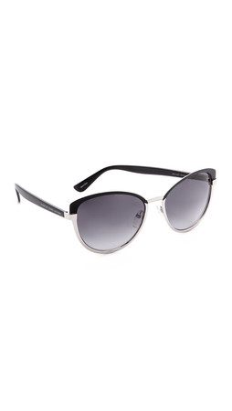 Marc By Marc Jacobs Two Tone Cat Eye Sunglasses - Palladium/Grey Gradient