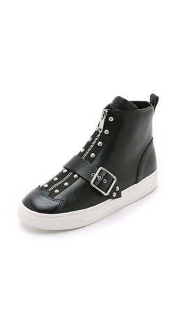 Marc By Marc Jacobs Varick Studded High Top Sneakers - Black